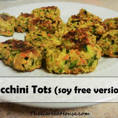 Zucchini Tots Recipe (soy free version!)