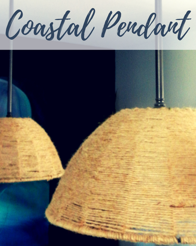 Get the Look for Less: $10 DIY Woven Coastal Pendants