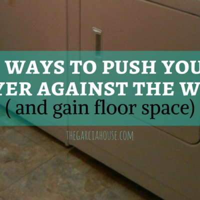 3 Ways to Push Your Dryer Against the Wall & Gain Floor Space