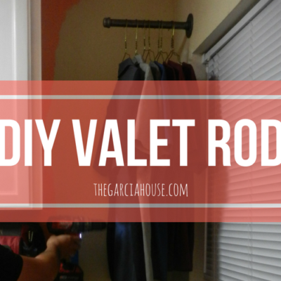 DIY Valet Rod for the Laundry Room