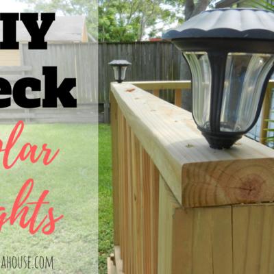 Easy DIY Deck Solar Lights in 20 Minutes!