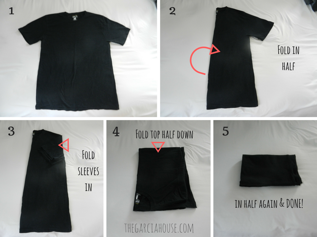 How to fold clothes the konmari way for Japanese way to fold shirts