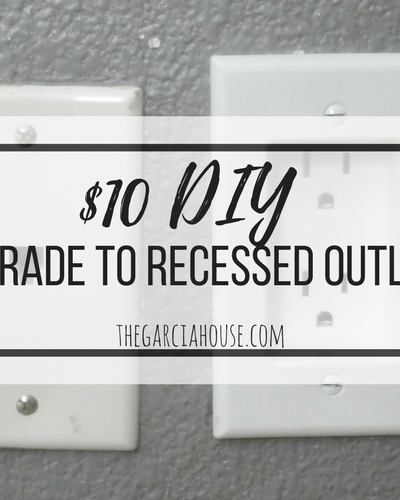 $10 Upgrade to Recessed Outlets & Push Furniture Against the Wall (5 Easy Steps!)