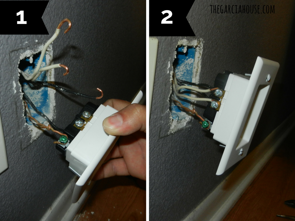 10 Upgrade To Recessed Outlets Push Furniture Against The Wall 5 Wiring House Receptacle Step Install New Outlet